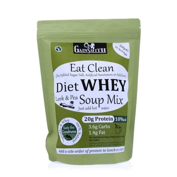 Eat Clean Diet Whey Leek & Pea Soup Mix, 500g Pack