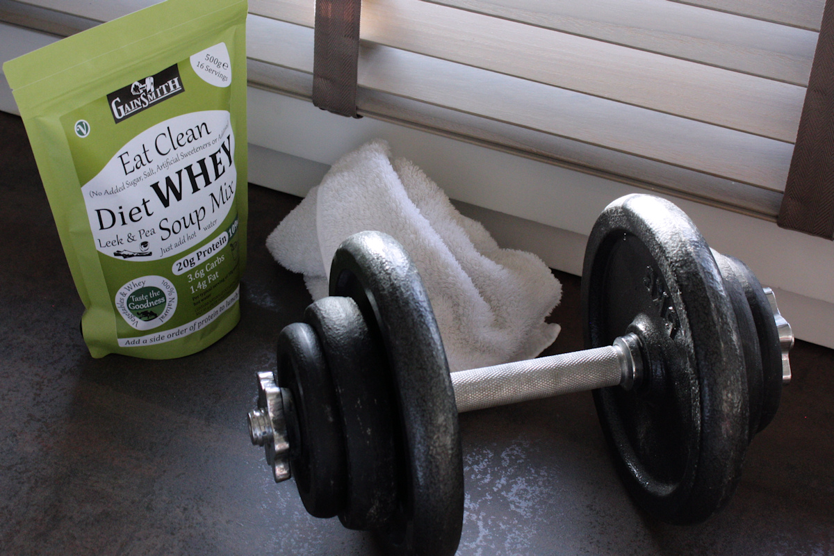Eat Clean Diet Whey Soup Mix 500g in the gym