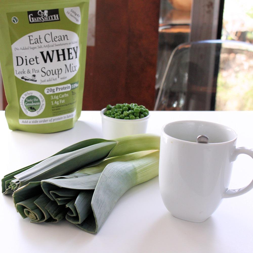 Natural Leek & Pea Protein Soup Ingredients