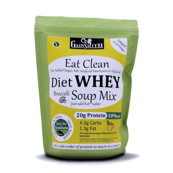 Eat Clean Diet Whey Broccoli Soup 16 Serving 500g Pack