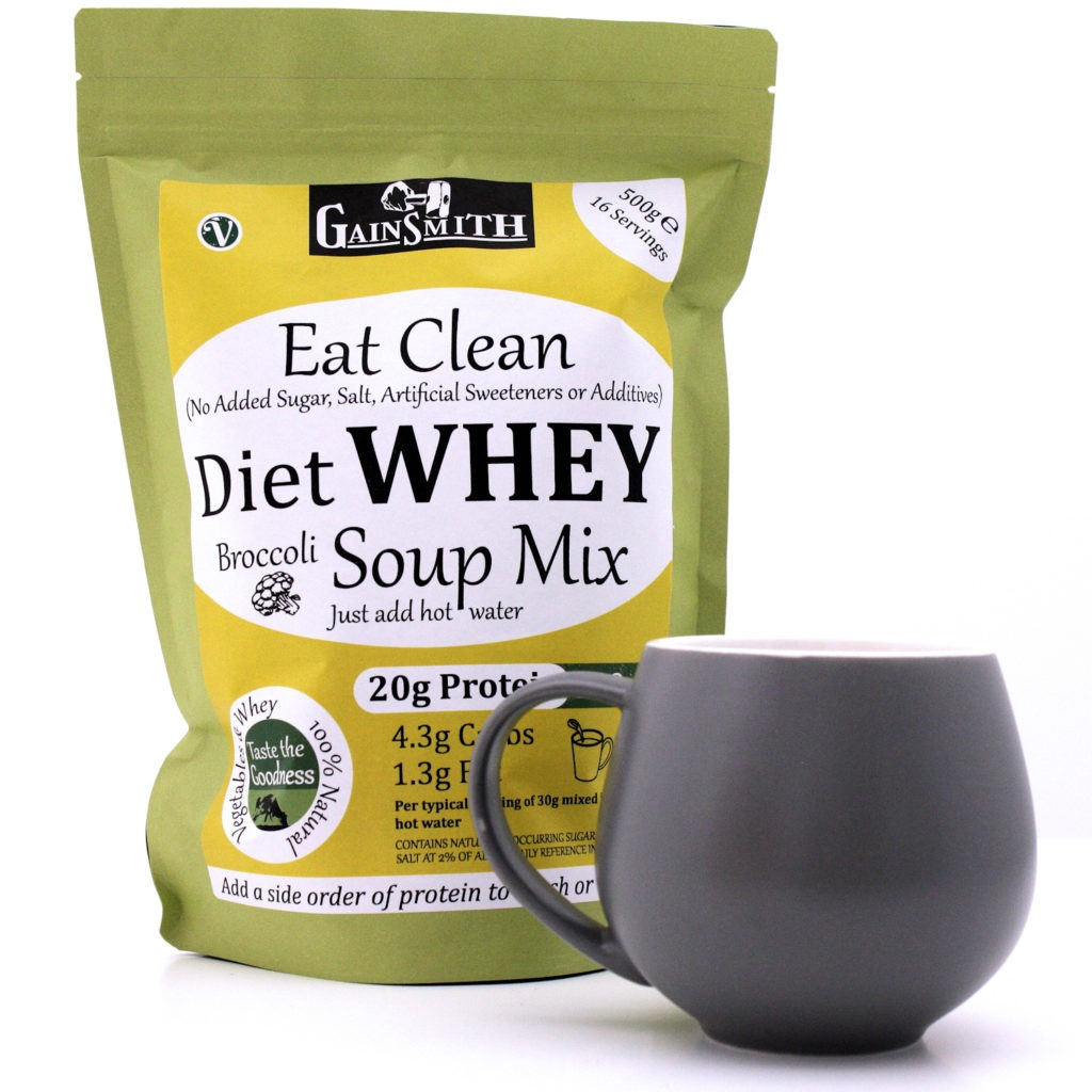 Eat Clean Diet Whey Broccoli Soup Mix Pack & Mug