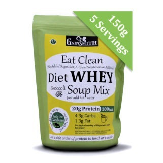 Eat Clean Diet Whey Broccoli Soup 5 Serving 150g Trial Pack