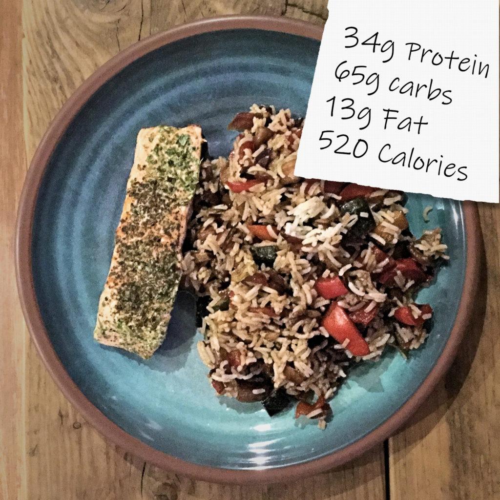Example Protein Diet Easy Meal - Piri Piri Salmon