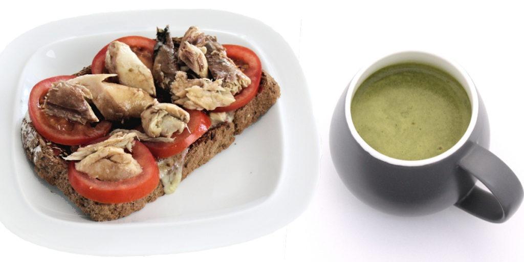 Fake Fishy Pizza & Diet Whey Broccoli Soup