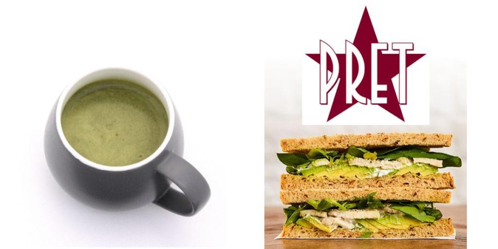 Pret Chicken & Avocado Sandwich with Diet Whey Broccoli Soup