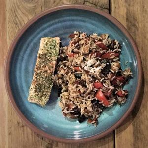 Piri Piri Salmon Fillet & Dirty Vegetable Rice
