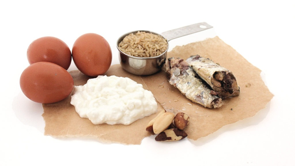 Sources of Selenium: Eggs, Brazil Nuts, Cottage Cheese, Sardines & Brown Rice